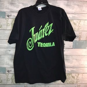 Juarez Tequila black tee size large           0058